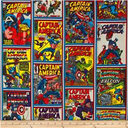 Marvel Comics Captain America Comic Strip Print Design Multi