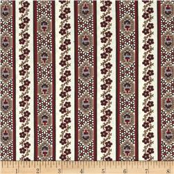 Border Companions Oval Border Natural/Red