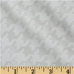 Michael Miller Everyday Houndstooth Snow Fabric