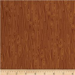 Riley Blake Happy Harvest Flannel Wood Brown