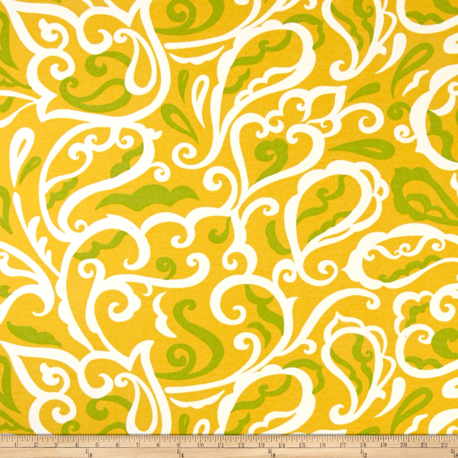Richloom Indoor/Outdoor Albany Banana Fabric by TNT in USA
