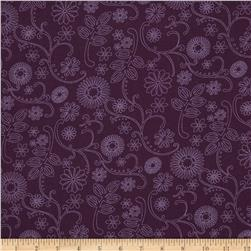 110 In. Wide Quilt Back Signature Purple
