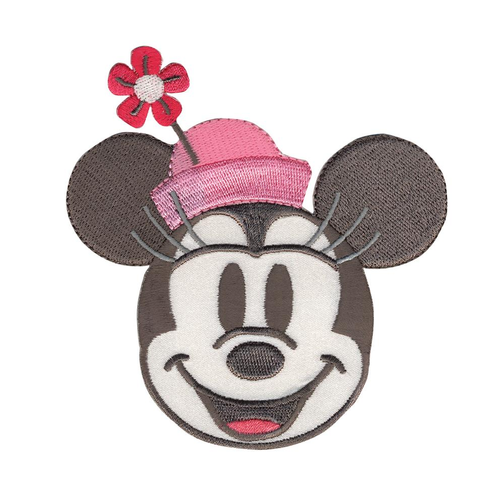 Disney Minnie Mouse Iron On Applique Minnie Head