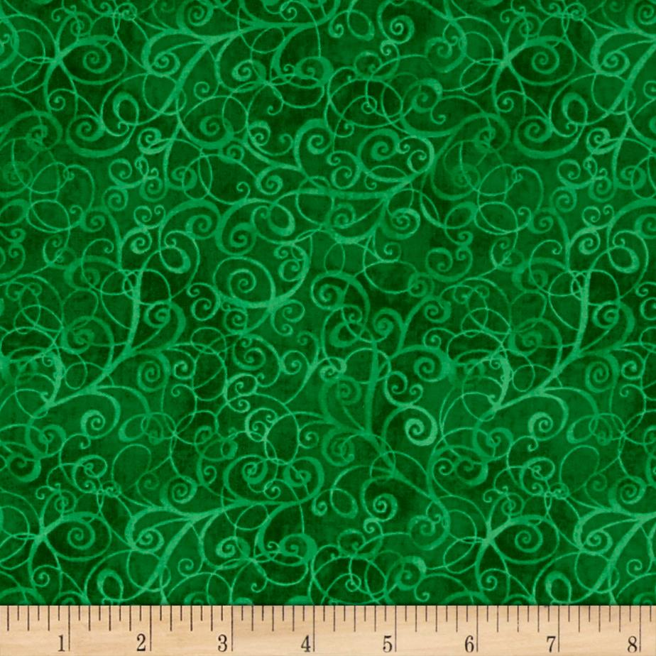 Timeless Treasures Breeze Scroll Blender Green Fabric By The Yard
