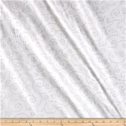Indian Batik East Side Scroll White
