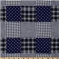 Kaufman Nantucket Patchwork Plaid Navy