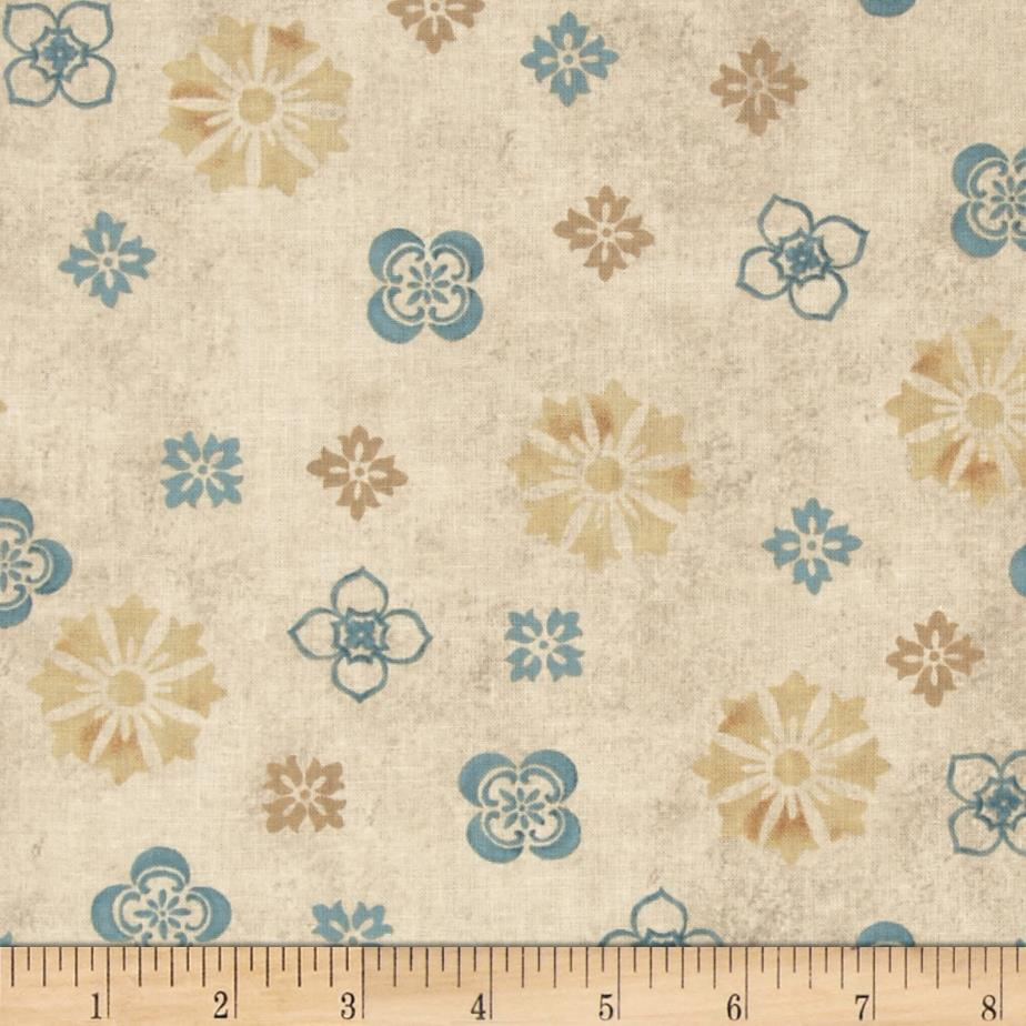 Sea of Tranquility Geometric Floral Cream