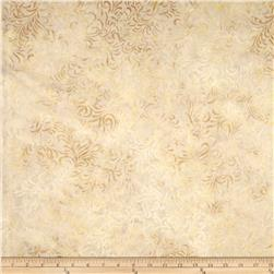 106'' Wide Batavian Batiks Quilt Backing Flourish Tan/Beige