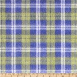 Fleece Patchwork Plaid Navy/Green/White