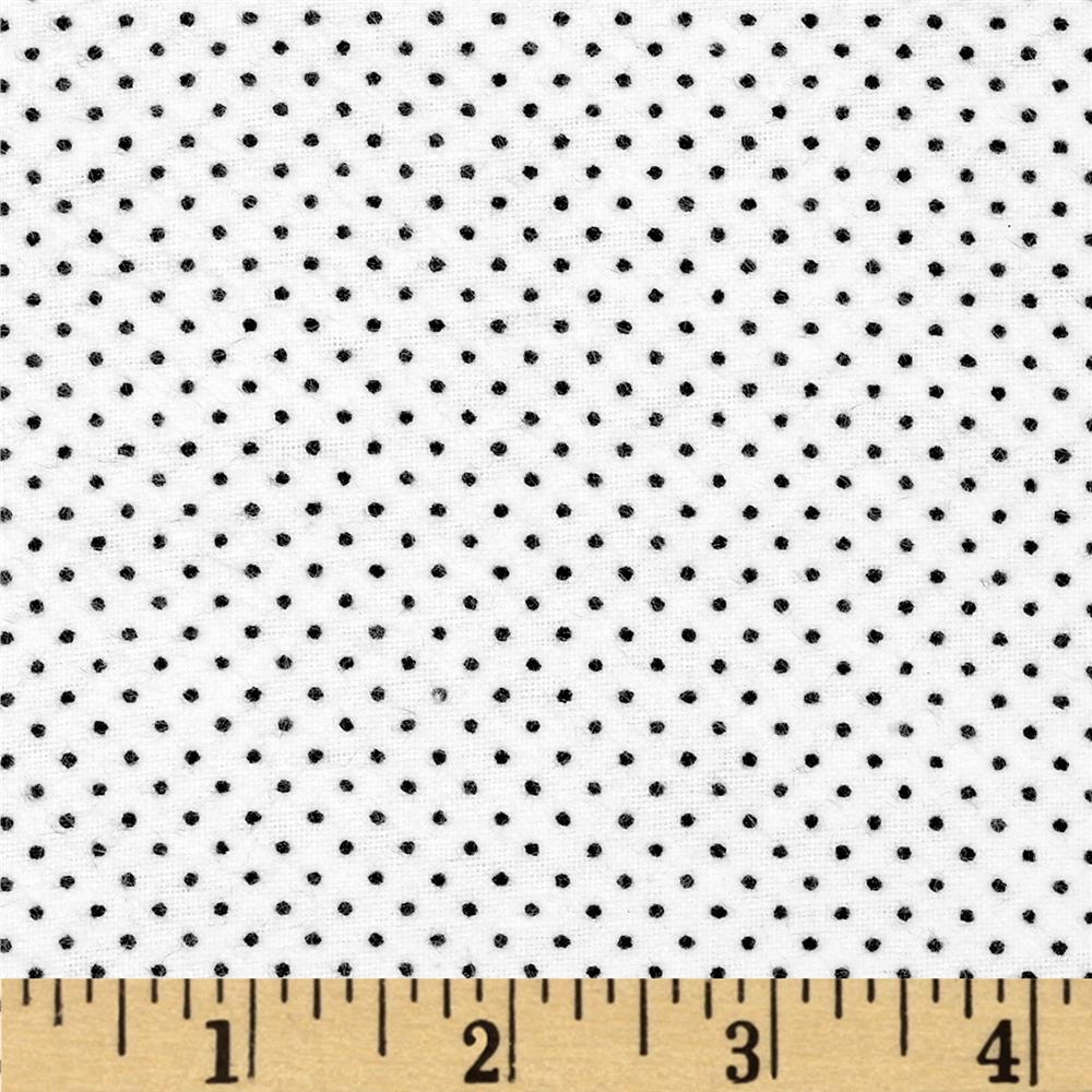 Aunt Polly's Flannel Pin Dot White/Black