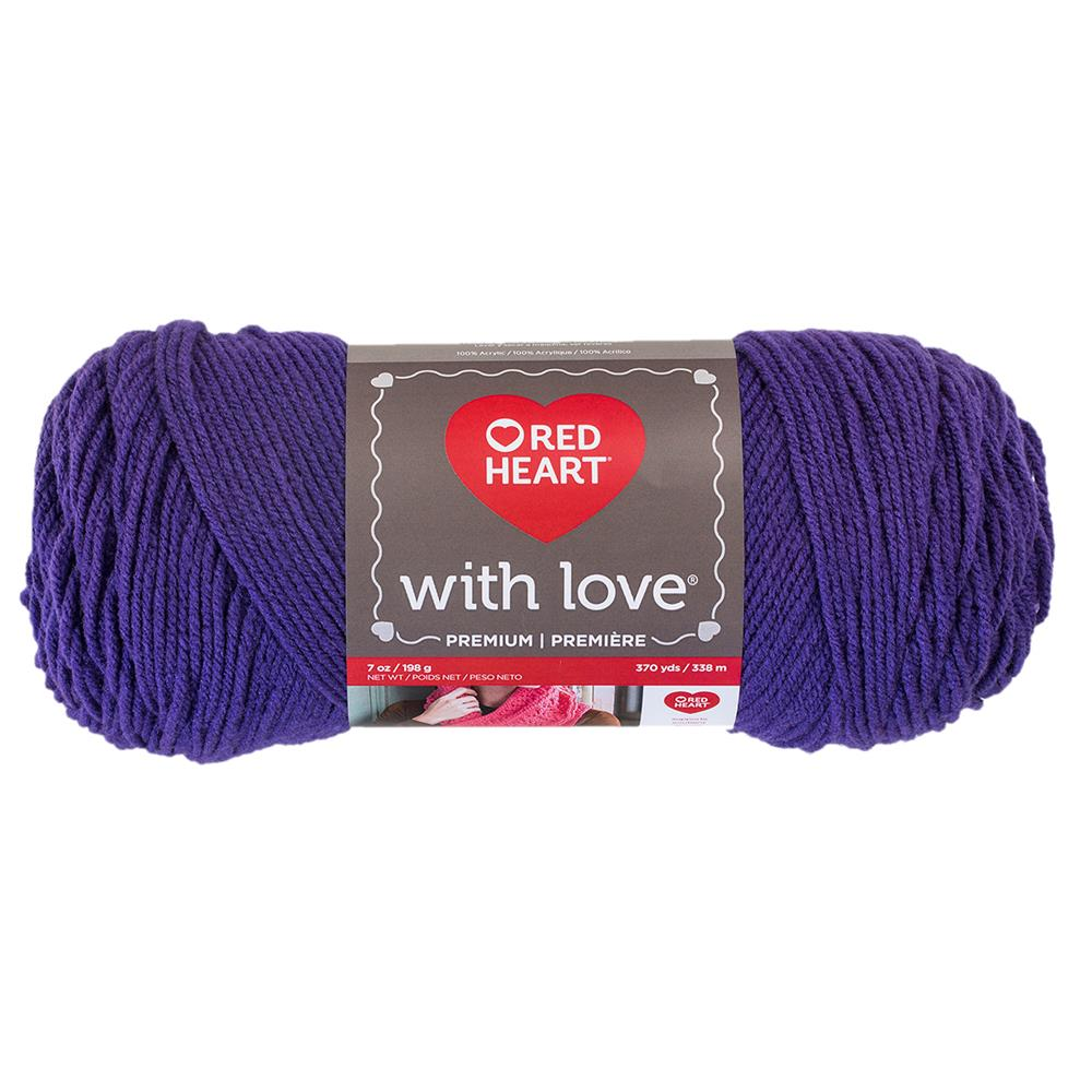 Red Heart Yarn With Love 1530 Violet