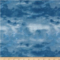 Winter Stillness Flannel Winter Sky Dark Blue