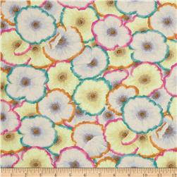 Kaffe Fassett Picotte Poppies Lime