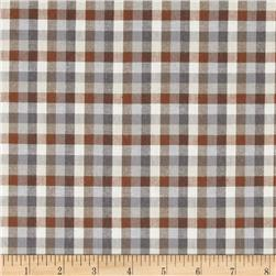 Peppered Cotton Small Check Earth