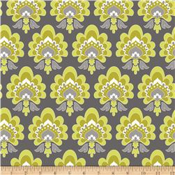 Riley Blake Lula Magnolia Floral Green Fabric