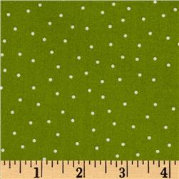 Kimberbell's Merry & Bright Pin Dots Green Fabric