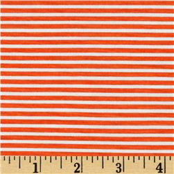 Stretch Blend Jersey Knit Stripe Orange/White