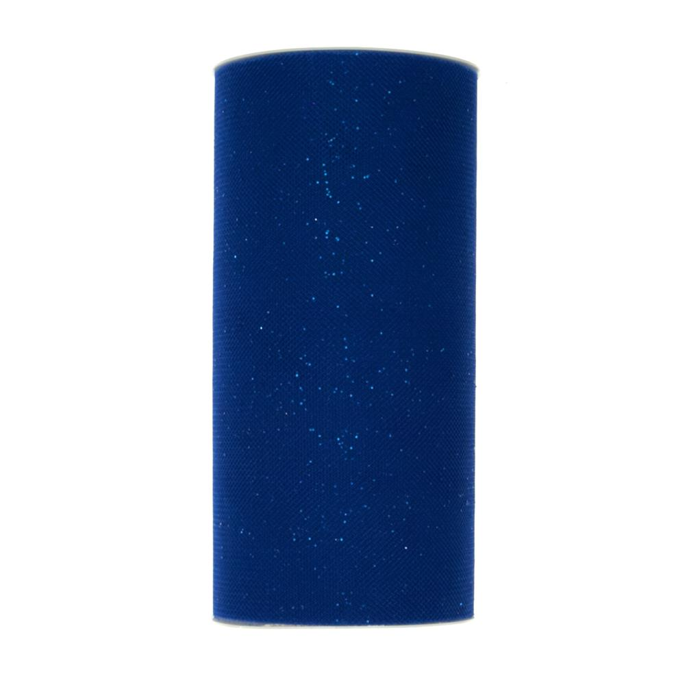 Tulle Spool Stardust Royal Blue