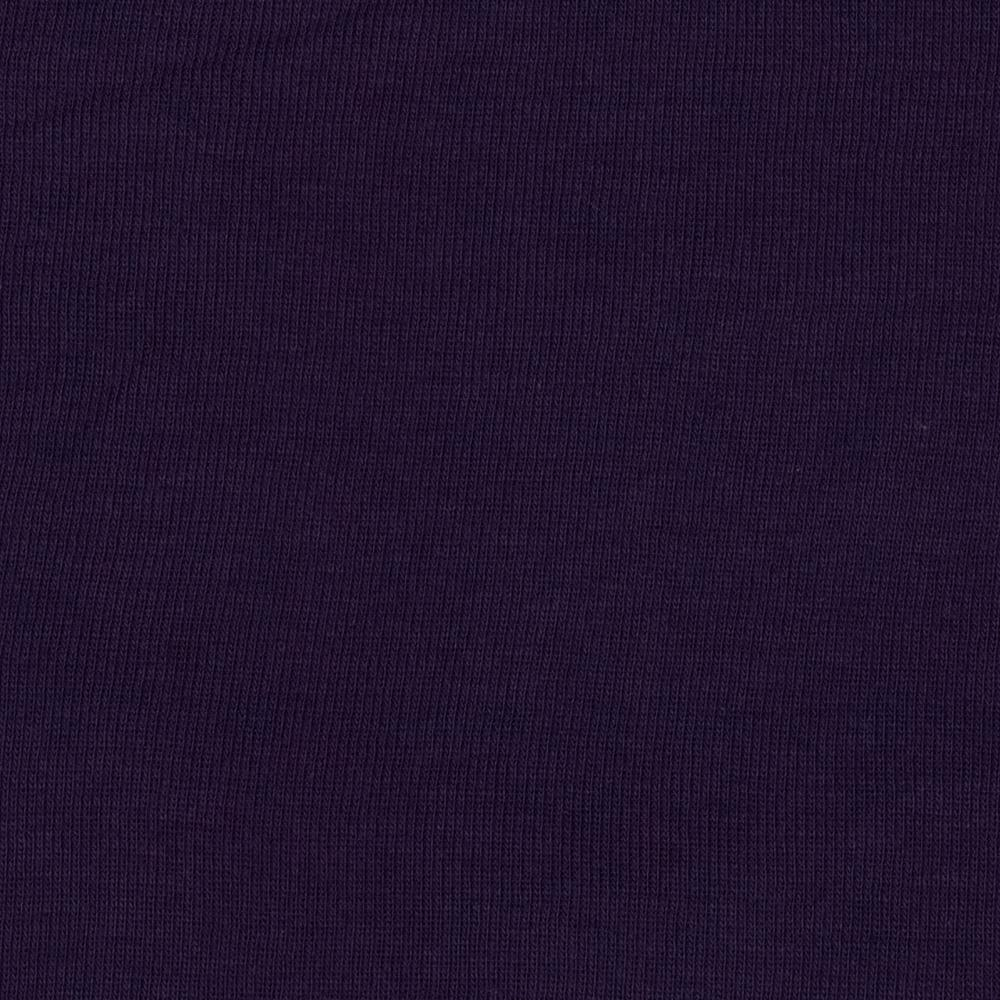 Cotton Blend Jersey Knit Solid Eggplant