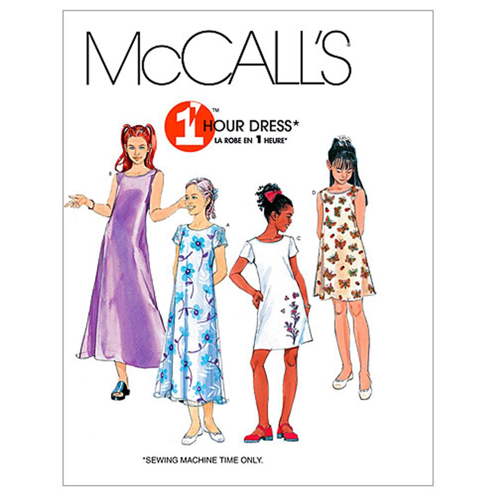 McCall's Girls' Dresses In 2 Lengths Pattern M6098 Size CH0