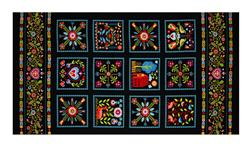 "Peaceful Gathering 24"" Panel"