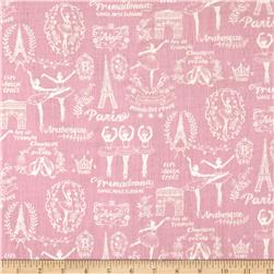 Kokka Trefle Ballet In Paris Double Gauze Pink