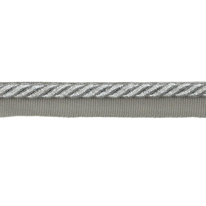 "Expo 1/4"" Gloria Lip Cord Trim Metallic Silver"