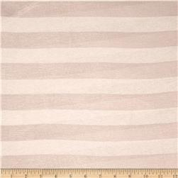 Yarn Dyed Jersey Knit Stripe Sand
