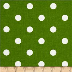 Premier Prints Polka Dot  Kelly Green/White