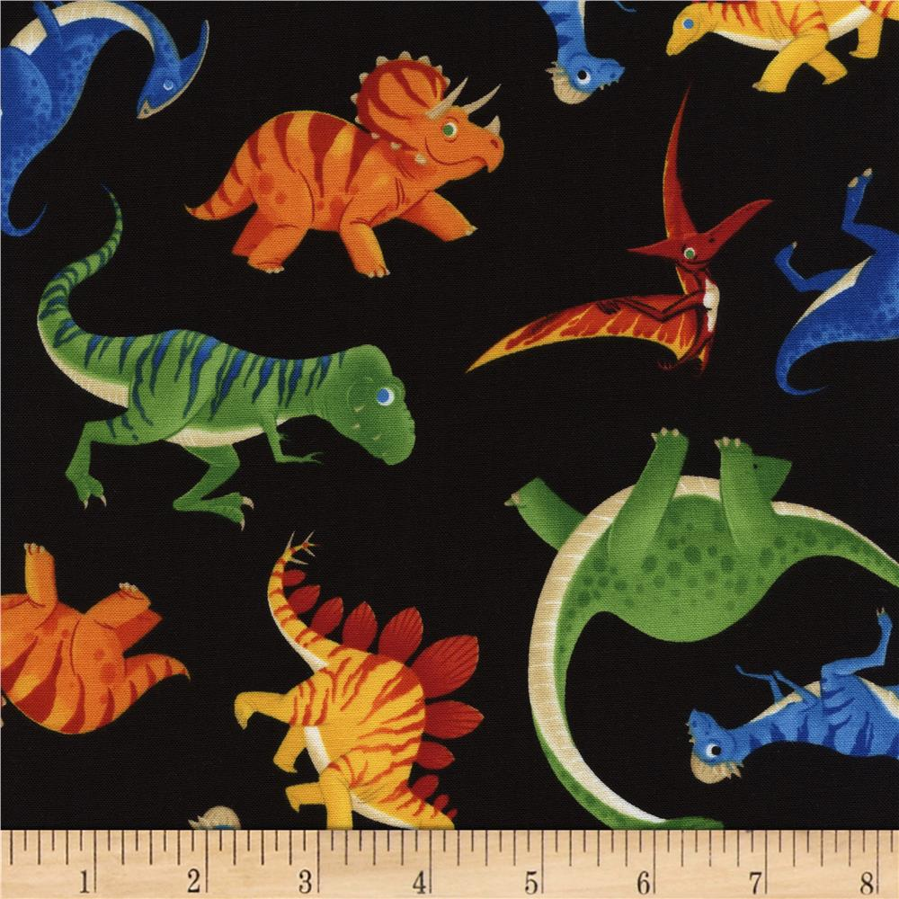 Timeless Treasures Dino Toss Black