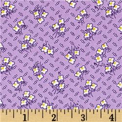 Storybook Vacation Flowers On Chex Purple