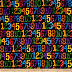 1,2,3 To The Zoo Numbers Black/Multi