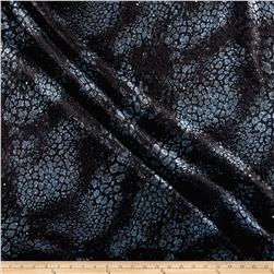Telio Foiled Knit Dimensional Black/Blue