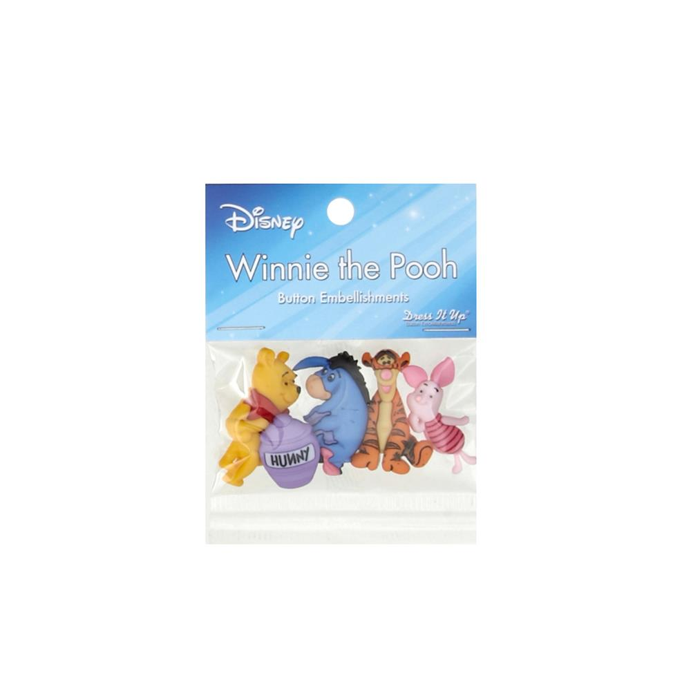Dress It Up Disney Winnie the Pooh Button