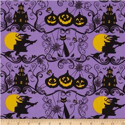 Horror Scope Witches & Cats Purple