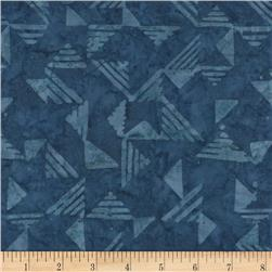 Timeless Treasures Tonga Batiks Lagoon Triangles Navy