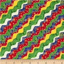 Season's Greeting Wavy Stripe Multi