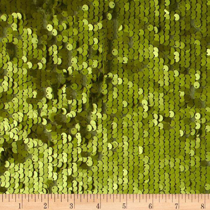 Envy Matte Sequin Netting Leaf