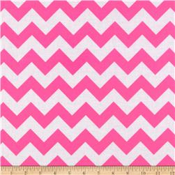 Riley Blake Laminate Chevron Neon Pink