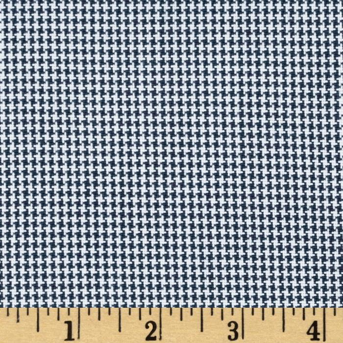 Polyester Uniform Houndstooth Navy/White