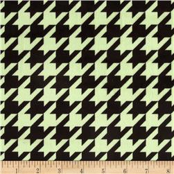 Minky Houndstooth Sage/Black Fabric