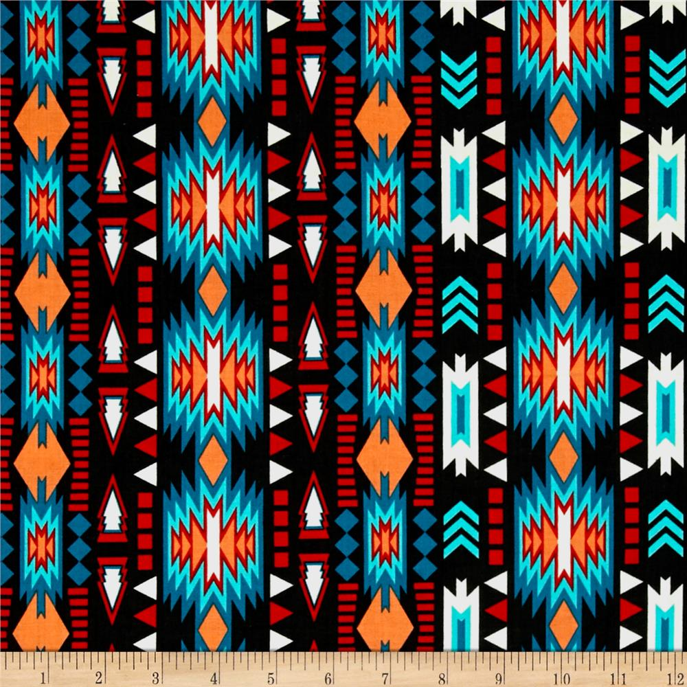 Native Spirit Stripe Charcoal Discount Designer Fabric