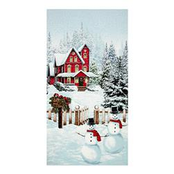 "Merry, Berry & Bright Metallic Snow Day 24"" Panel December"