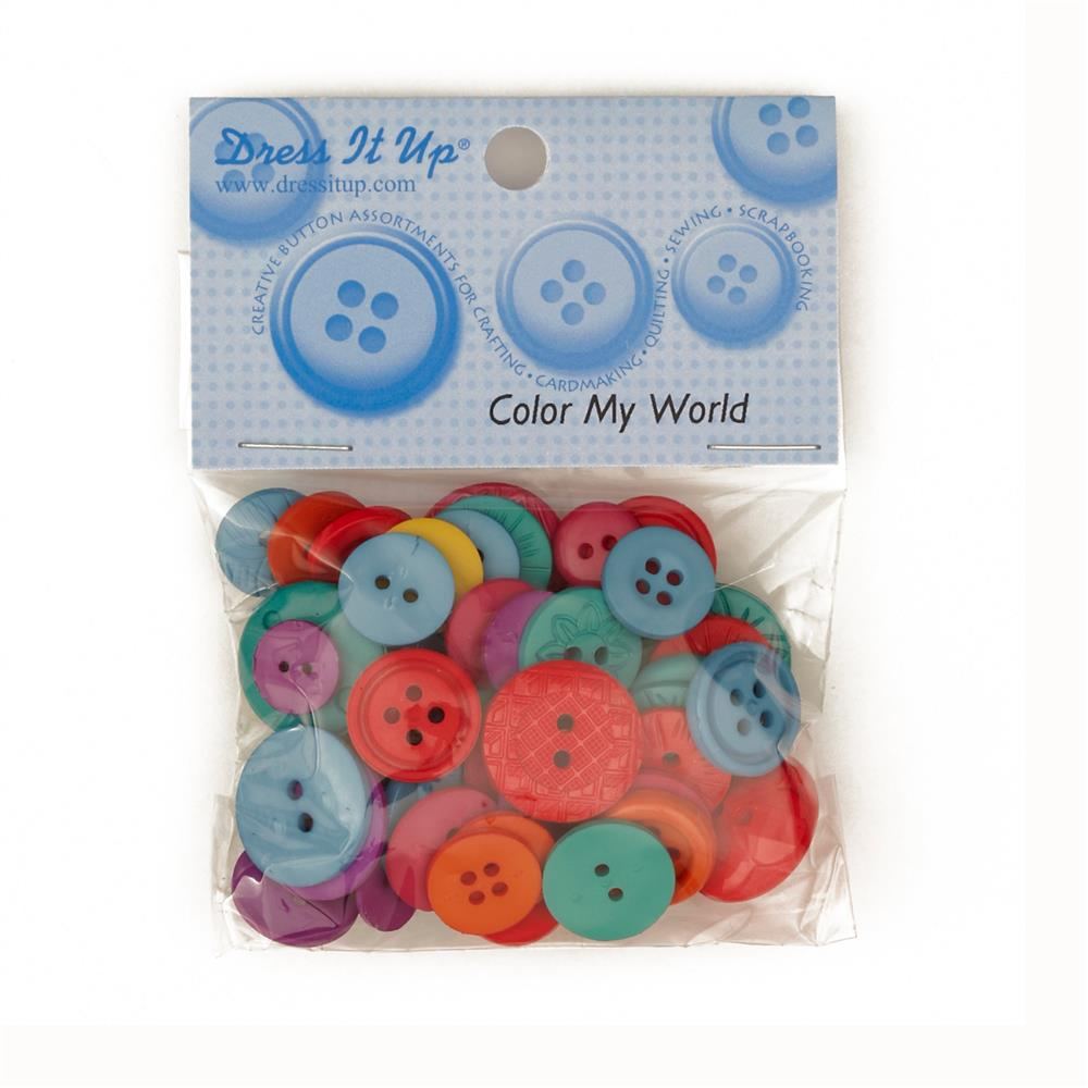 Dress It Up Color Me Collection Buttons My World