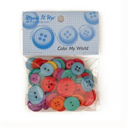 Dress It Up Color Me Collection Buttons My World Multi