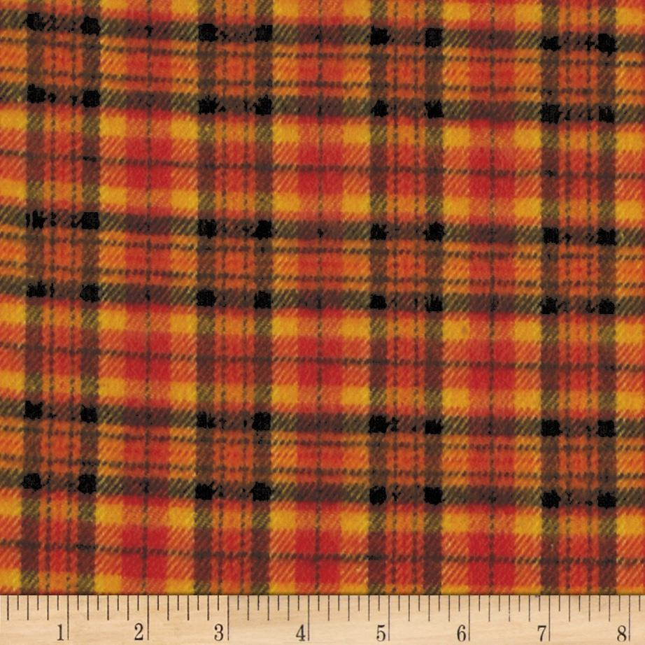 Primo Plaids Harvest Flannel Grid Plaid Orange