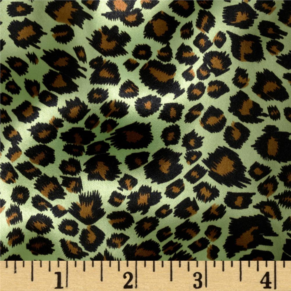 Charmeuse Satin Cheetah Lime