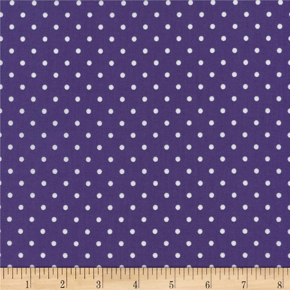 Timeless Treasures Polka Dots Purple