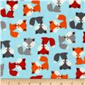 Urban Zoologie Flannel Foxes Aqua