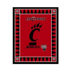 Collegiate Fleece Panel University of Cincinnati Red Fabric